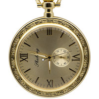 Whole Gold Antique Copper Pocket & Fob Watches Mechanical Watch Hand Wind Skeleton Mens Pocket Watch With Chain Gift Box