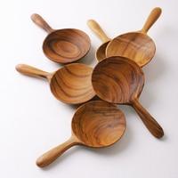 Handmade Teak Wooden Spoon For Tea/Dessert Children Tableware Kicthen Accessories Quality Spoon for Home/Restaurant
