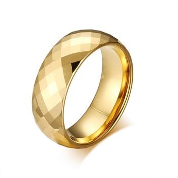 a4327b42686e 8mm hombres de cúpula de cristal anillo de carburo de tungsteno para  hombres o Unisex bandas