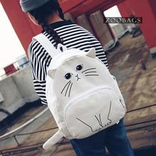 Women's Bag Backpacks Mini Cute Animals Canvas Backpacks for Teenage Girl Student Cartoon Cute Eastback School Bag Bagpack Batoh