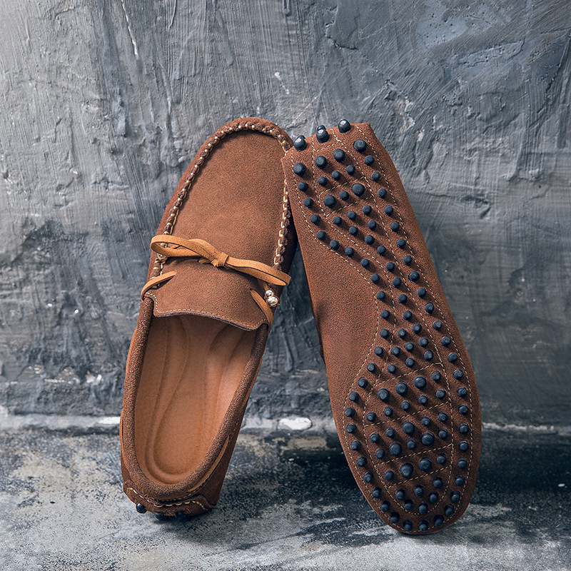 Brown D'été Hommes 2018 En Printemps De Fond Plat Et noir gris Occasionnels Cuir Chaussures UVzpqGSM