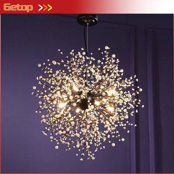 getop nordic creatieve hanglamp vuurwerk led vintage smeedijzeren kroonluchter verlichting voor restaurant bar d6080