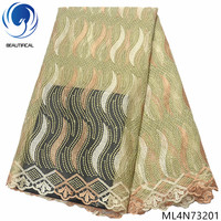 BEAUTIFICAL african lace cheaper embroidery tulle french lace nigerian fabric for cloth ML4N732