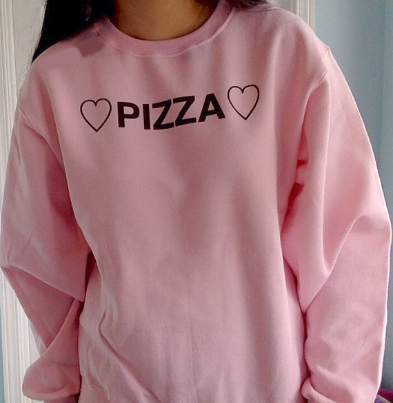 Pizza Sweatshirt Women Fashion Tumblr Sweatshirt Instagram -9664