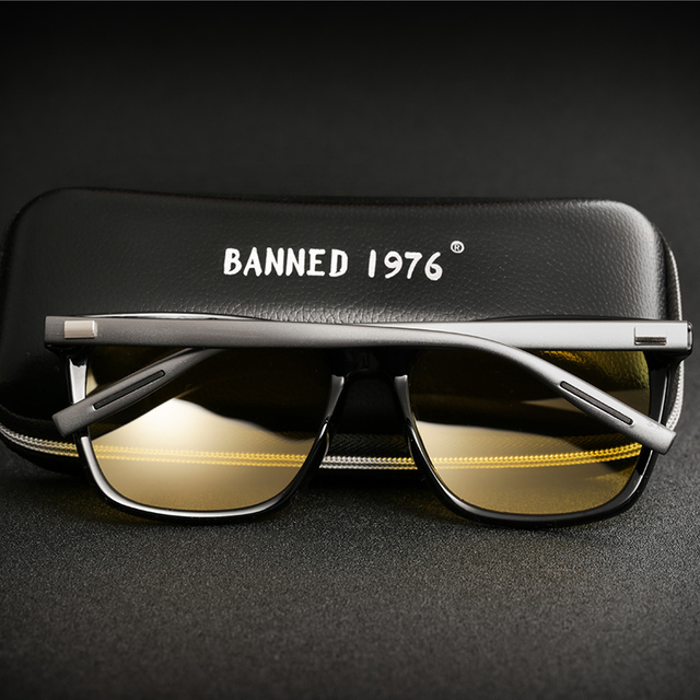 2018 Night verision Aluminum Glasses Anti Glare Brand Unisex Retro Vintage Eyewear evening Driving Glasses For Men/Women 2