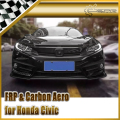 Car-styling For Honda 10th Generation Civic FC CM-Style Carbon Fiber Front Lip
