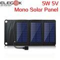 ELEGEEK 5 W 5 V Folding Painel Solar Carregador Solar Pacote Carregador Portátil Ao Ar Livre Construído em Controlador de Tensão para Celular telefone