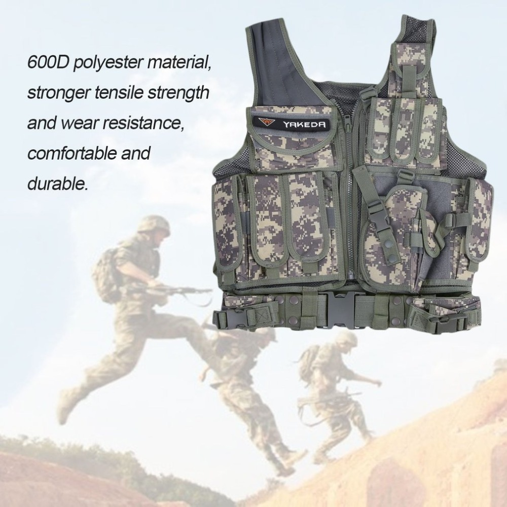 Men's Military Tactical Vest Military Molle Combat Assault Plate Carrier Vest CS Outdoor Clothing Hunting Vest
