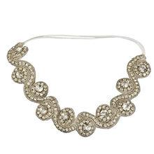 Women Vintage Gold Head Chain Jewelry Headband Crystal Head Piece Flower Headbands Wedding Hair Accessories