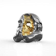 Fashion Punk Rock Domineering Skull Ring for Men Gold Gas Mask Biker Rings  Mens Jewelry anillos 8c0b2b8421cf
