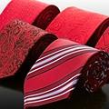 Бренд мужчины в перевязка красный коммерция перевязка официальный шелк перевязка брак перевязка