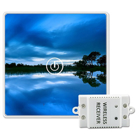 Saful Wireless Switch Touch 150M Remote Luxury Tempered Glass Panels 1 Gang 1 Way 12V DIY Design LED Wall Light Switch