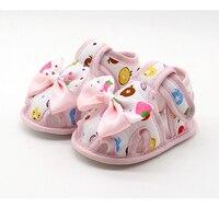 2017 Yaz Yeni Stil Moda 0-18 ay Bebek Ayakkabı, kızlar Sevimli Pamuk Ayakkabı Moda Papyon Çocuklar Ayakkabı, Toddler Kızlar Ayakkabı
