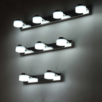 modern brief bathroom led Mirror Light antimist waterproof stainless steel Wall Lamp