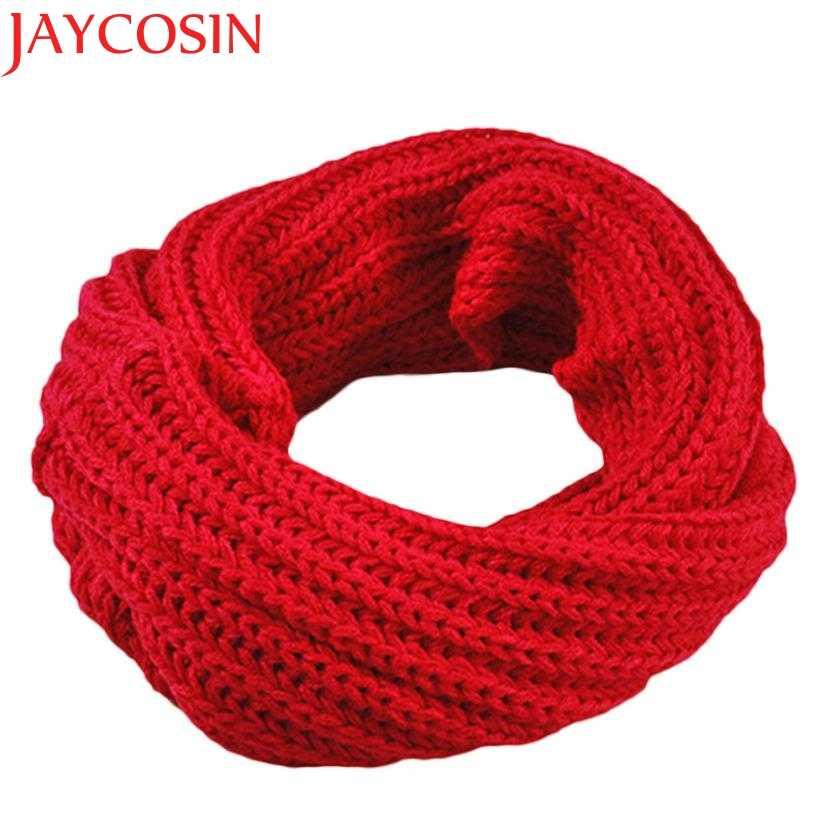 JAYCOSIN осень-зима для маленьких мальчиков и девочек; вязаный круг шерстяной шарф, шаль Обёрточная бумага с лисьим мехом Зимние теплые воротник Прямая доставка