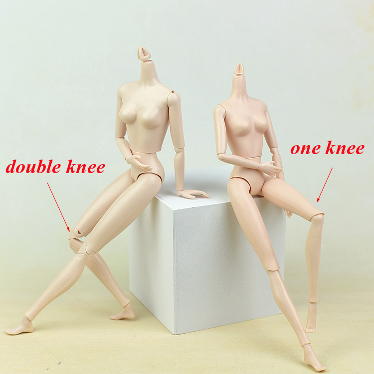 2018 Doll Body White Skin /with 14 joint moveable Double Knee / Accessories for Xinyi OB Licca barbie toy doll Children Gift new 14 joint moveable body for barbie toy doll accessories baby toys for girls