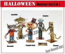 Clásico de Halloween Cabeza de Calabaza, hombre lobo, mamá, Lizardfolk, Vampire Kits De Papel Modelo Para Niños Adultos De Papel Juguete Modelos De Hobby