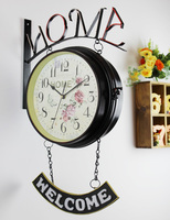 Watches Decoration Art Quartz The New Large Colorful European Garden Wall Clock Clock Clock Clock Retro
