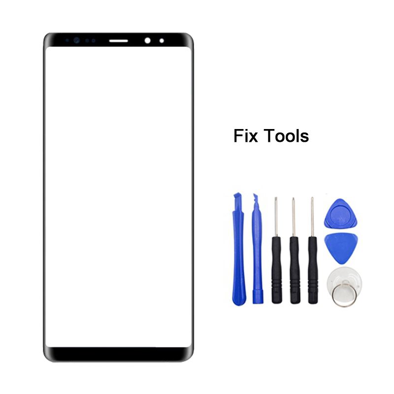 LOVAIN 1PCS Black Genuine Original For Samsung Galaxy Note8 Note 8 N950 Front Glass Lens Touch