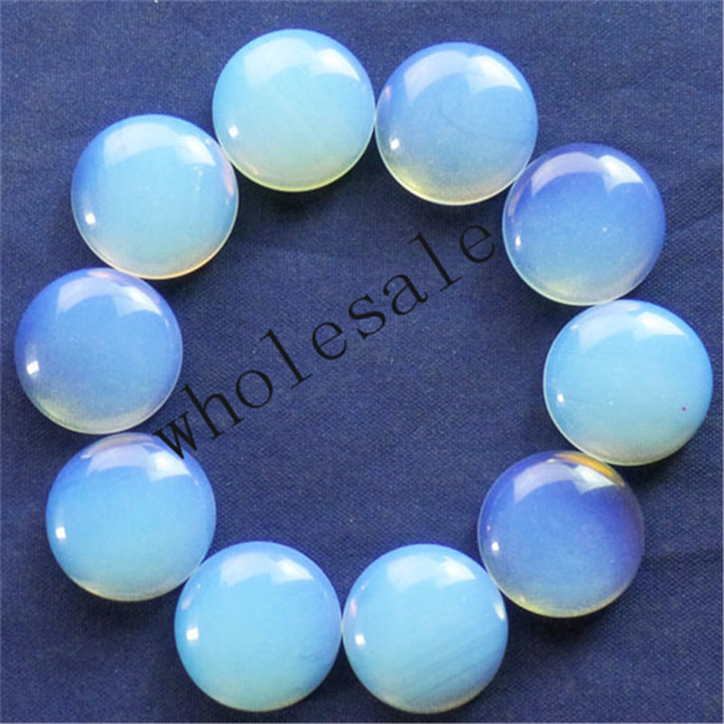 (12 pieces/lot) Wholesale Opal Opalite Round CAB CABOCHON 16mm Free Shipping Fashion Jewelry ZC00021