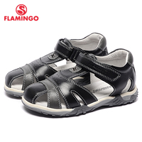 FLAMINGO Famous Brand 2017 New Arrival Spring Summer Kids Leather Fashion High Quality Sandals For Boys