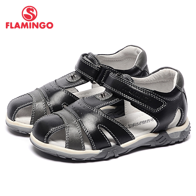 FLAMINGO famous brand 2017 new arrival Spring & Summer kids leather fashion high quality sandals for boys 71S-CD-0221
