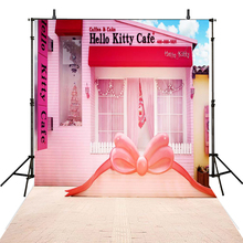 House Photography Backdrops Pink Backdrop For Cafe Background Photo Studio Kids Foto Achtergrond