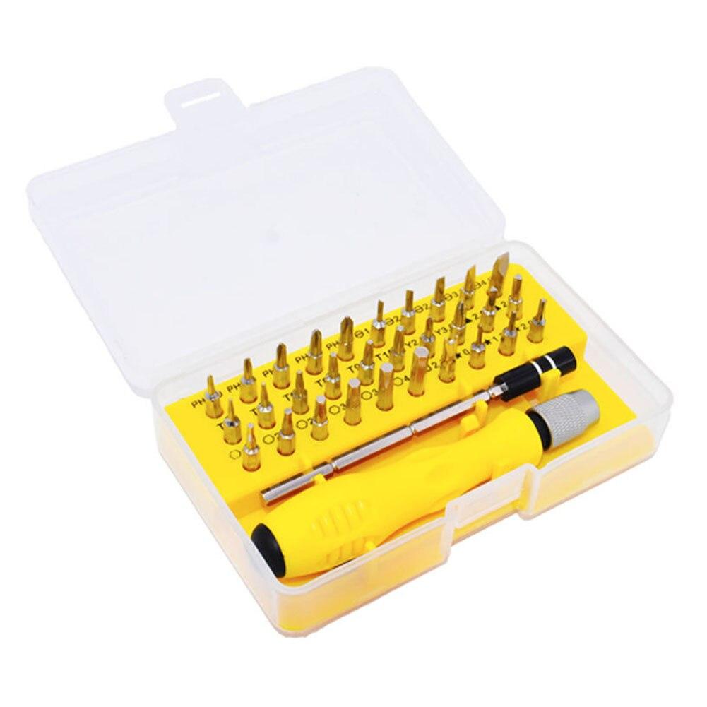 32 In 1 Professionele Tool Reparatie Antislip Telefoon Mobiele Chroom Vanadium Staal Mini Magnetische Multifunctionele Schroevendraaier Set