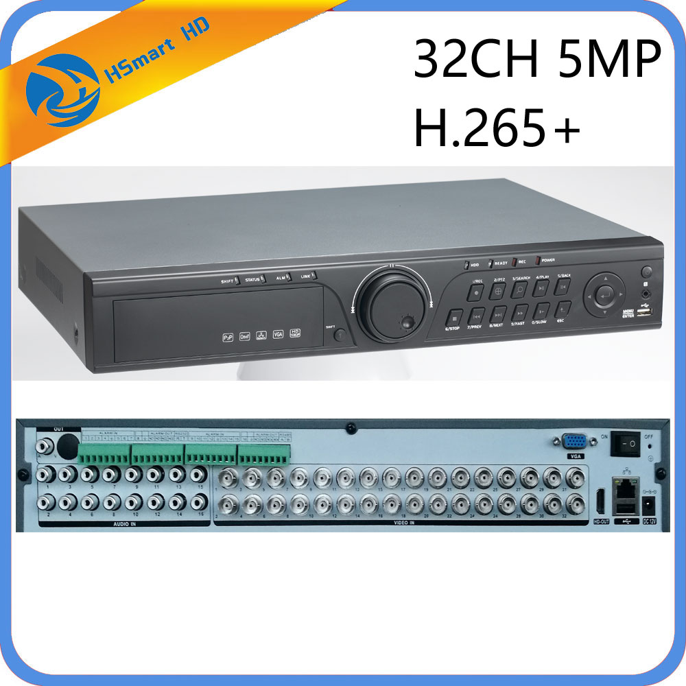 CCTV 32CH 5MP 32 Channel AHD DVR H.265 CVI TVI NVR 1080P HDMI VIDEO Support Analog AHD IP Camera 16CH Audio Input Hybrid HD DVR 16ch 5in1 ahd dvr support cvbs tvi ahd analog ip cameras hd p2p h 264 vga hdmi 2 hard disk bit video recorder rs485 audio