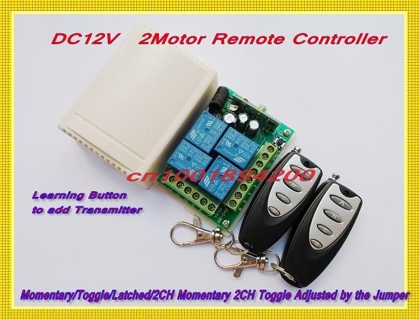 DC12V Motor Forwards Reverse Remote Controller System + Transmitter Learning Code Receiver M4/ T4 / L4 /2CH M4 2CH T4 Adjustable установочный комплект swat pac t4 2ch