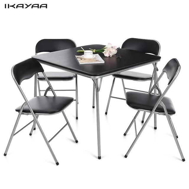Ikayaa de 5 unids plegable cocina comedor silla mesa puesta Muebles ...