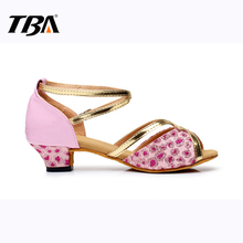 Women & Children's Dance Jazz Shoes,Ankle Strap Chaussures,Platform Latin Dancing Shoe,2017 Sexy New Salsa Mujer Indoor Sneakers