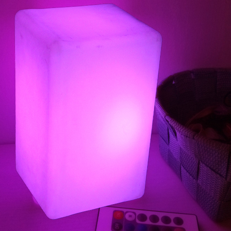 W10*L10*H15cm <font><b>LED</b></font> Square <font><b>Cube</b></font> Luminouxe Lighting Lamps Night Light With 16 Color Changing For Bar Furniture Home Bedroom 1pc image