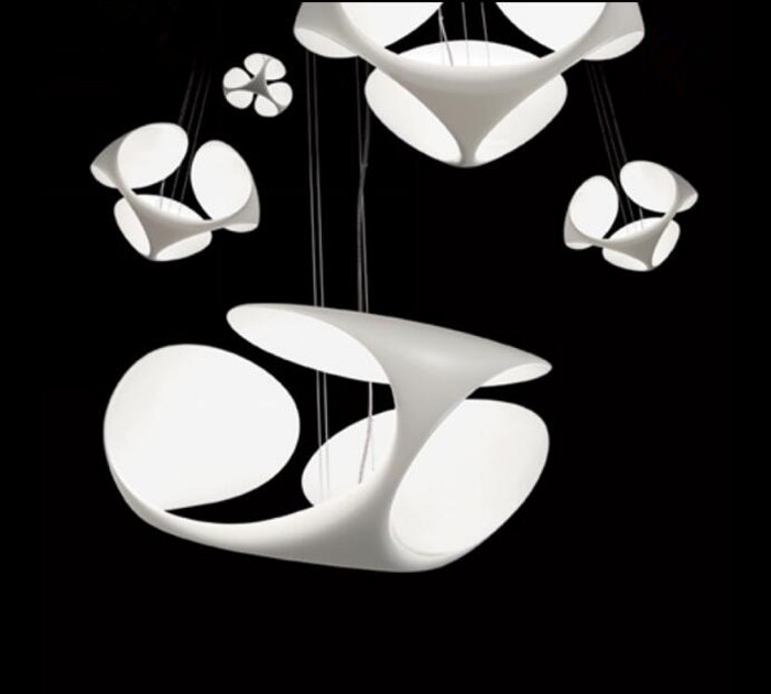 Creative Clover Restaurant Chandelier Modern Simple Living Room Bedroom Study Decoration Resin Chandelier Free Shipping european restaurant crystal chandelier simple ball bedroom modern simple led creative living room lighting dining room