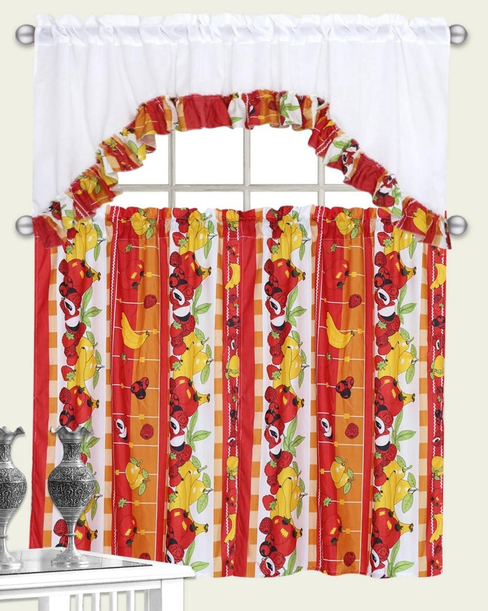 Red Kitchen Curtain Sets Popular Kitchen Curtains Set Buy Cheap Kitchen Curtains Set Lots