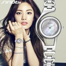 SINOBI Pulsera Relojes de Oro para Las Mujeres de Cristal de Diamante Reloj de Lujo Marca de Relojes Señoras reloj de cuarzo mujer reloj Feminino