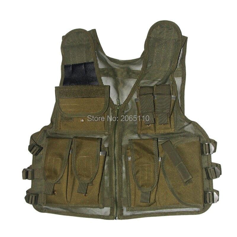 Prix pour Tactique Maille Gilet Airsoft Poches de Camouflage Hommes En Plein Air Chasse Poissons Gilet Sport Photographe Gilet Veste Sans Manches
