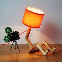 Современный творческий дерева Письменный стол лампы для гостиной кабинет светодиодный E27 настольные лампы AC110 240V люстры де Сала plafon Люминир