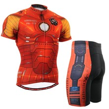 Life on track Mens Cycling Jerseys Sets Iron man Bike Bicycle Shirts Clothings Cycling Jersey For Ironman Ciclismo