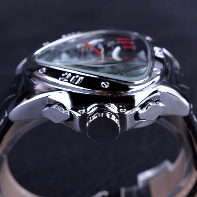 Jaragar Men's Sport Racing Geometric Triangle Design Automatic Watches 3