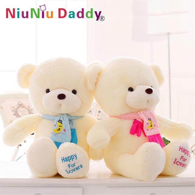 Niuniu Daddy Birthday Valentines Gift Scarf Baby Bear Wedding Plush Toy Teddy Doll 2 Colors Size 30cm