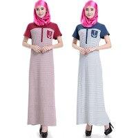 Muslim Fashion Women long sleeve long dress islamic clothing Ethnic Clothing Hot sale Cotton woman with robe Female Abaya summer