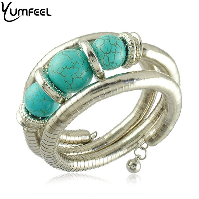 Yumfeel African Beads Bracelet New Arrival Synthetic Stone Beads Bracelet Vintage Jewelry