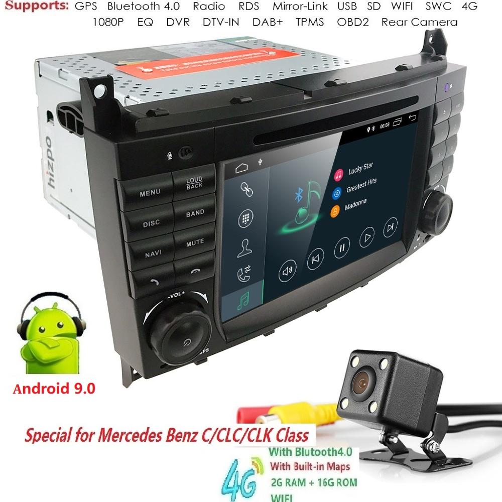 2GRAM Android9 0 2DIN CarDVD GPS For Mercedes Benz W203 W209 W219 A Class A160 C