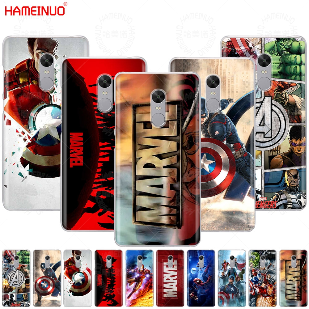 HAMEINUO Marvel Superheroes Cover phone Case for Xiaomi redmi 5 4 1 1s 2 3 3s pro PLUS redmi note 4 4X 4A 5A