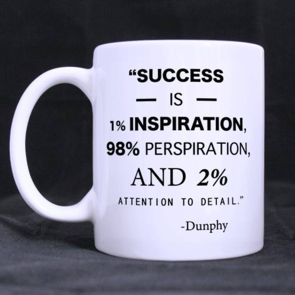 Funny Quotes Printed Coffee Mug Quot Success Is 1 Inspiration