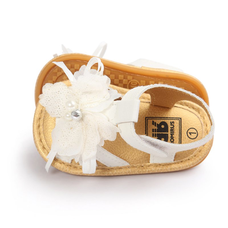 Summer Cool Baby Sandals Skidproof Toddlers Infant Baby Flower Shoes PU Leather Sandals