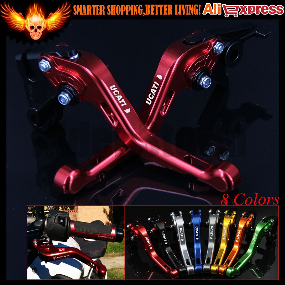 ФОТО 8 Colors New CNC Aluminum Red Motorcycle Short Brake Clutch Levers for Ducati Diavel/Carbon/XDiavel/S 2016