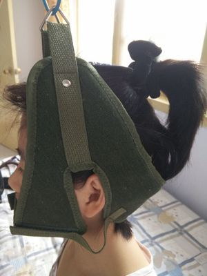 Green Canvas Cervical Traction Belt Sling Tractor Stretch Chair Thickening Hood Neck Care Tool Home Medical Equipment Hot Sale