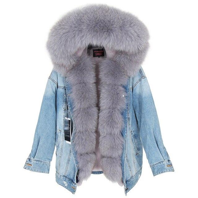 abrigo cuello de piel de zorro